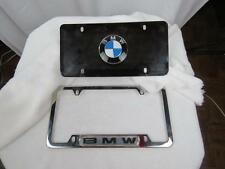 Authentic used BMW logo license plate and frame (No screws included)