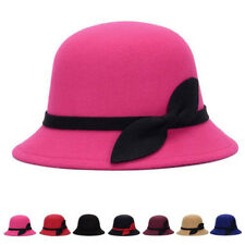 Cloche Warm Cap Wool Hats Bucket Bowler Fashion Felt Cute Vintage 1 Pcs Women