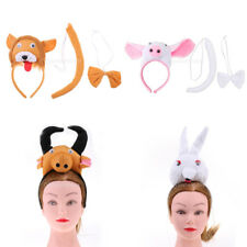 Assorted Kids Animal Costume Kit Headband Bow Tie Tail Set Zoo Fancy Dress