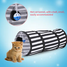 3Colors Cat Tunnel Toy Folding Pet Fun Tunnel Kitten Dog Rabbit Play With Balls