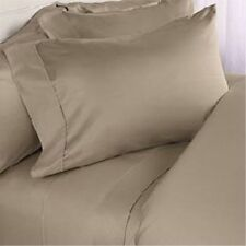 1000 TC 100%Egyptian Cotton All UK Size Bedding Item Beige Solid/Striped
