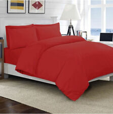 1000 TC 100%Egyptian Cotton All UK Size Bedding Item Red Solid/Striped