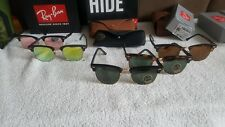 Ray-Ban RB3016 CLUBMASTERS  51-21 mm Square Sunglasses- NEW