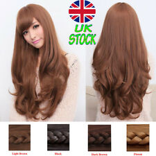 FULL LONG WOMENS LADIES FASHION HAIR WIG NATURAL CURLY WAVY COSPLAY HAIR FANCY