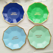 Paper Plates Cake Tableware Birthday Party Round Disposable Supplies New 8pcs