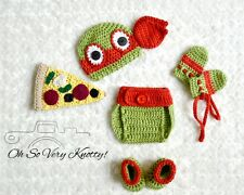 Crochet TMNT Inspired Raphael Red Ninja Turtle baby Outfit/Costume up to 12 m