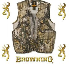 NEW Browning Men's Upland Game Vest Polyester Realtree Xtra NEW Hunting Shooting