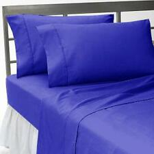 Royal Blue Solid Bed Sheets Collection! 1000TC Egyptian Cotton-Select Size&Item