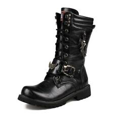 Army Boots Men Military Combat Skull Metal Buckle Lace Male Motorcycle
