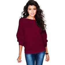 Women Oversized Batwing Sleeve Knitted Sweaters Loose Cardigan Outwear LOT BS