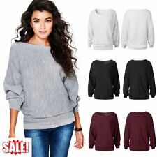 Women Oversized Batwing Sleeve Knitted Sweaters Loose Cardigan Outwear LOT UT
