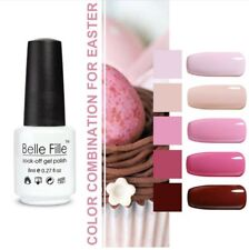 Bell Fille Nail Gel Polish Varnish UV  Led Soak Off Manicure DIY Foundation 5pcs