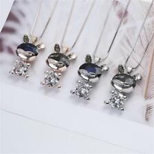 Easter Festival Rhinestone Bunny Pendant Necklace Rabbit Shape Charms Girls