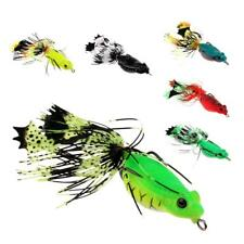 Cute Frog Topwater Fishing Lure Artificial Crankbait Hooks Bass Baits Tackle
