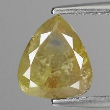 WOW EXCELLENT 2.27Cts 100% Natural Fancy Greenish Yellow Color Diamond for Jewel