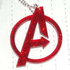 80s Super Hero The Avengers Logo Charm Necklace Kitsch Kawaii
