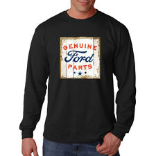 Ford Genuine Parts Old Distressed Road Sign Motor Company Long Sleeve T-Shirt