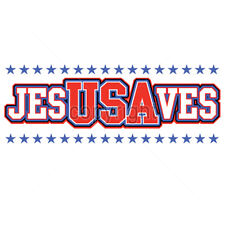 Jesus Saves USA United States Of America Funny Patriotic T-Shirt Tee