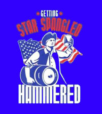 Star Spangled Hammered America United States USA Patriotic Funny T-Shirt Tee