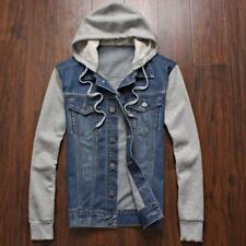 Denim Jacket men hooded sportswear Outdoors Casual fashion Jeans Jackets Hoodies