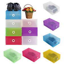 Shoes Boots Storage Box Clear Stackable Foldable Organiser Shoe Storage bag HJX