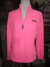 Vineyard Vines Shep Shirt Sweatshirt 1/4 zip Neon Pink Women's Small