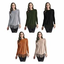 Women Casual Long Sleeve Knitted Pullover Loose Sweater Jumper Tops Knitwear BS