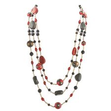 Zephyrr Fashion Handmade Beaded Multi strand Long Necklace with Glass Beads