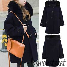 Womens Warm Loose Jacket Thicken Fur Collar Coat Outwear Parka Overcoat Hooded