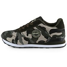 Casual Camouflage Pattern Lace Up Male Breathable Sneakers