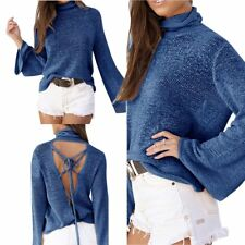 Women Casual Long Sleeve Knitted Pullover Loose Sweater Jumper Knitwear LOT ST