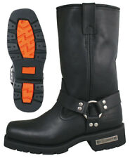 Motorcycle Harness Biker Boot with Lug Sole