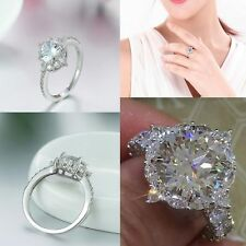 Women Rings Charm Crystal Zircon Diamond Circle Ring Engagement Man Jewelry Gift