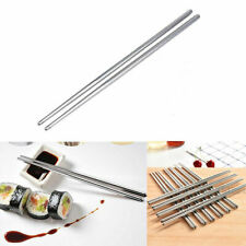 5/10 Pairs Stainless Steel Reusable Chopsticks Chop Sticks Beautiful Gift Set