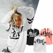 Women Spring Long Sleeve Hoodie Sweatshirt Jumper Pink Pullover Tops Coat Lot ST