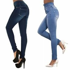Women Lady Denim Skinny Pants High Waist Stretch Jeans Slim Pencil Trousers HOT