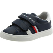 Tommy Hilfiger T1X4-00149-0057X Navy Leather Infant Trainers Shoes