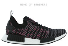 adidas NMD R1 Core Black Grey Four Solar Pink Men's Trainers All Sizes