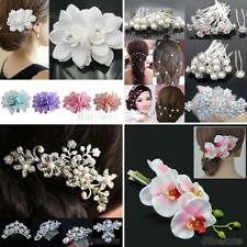 Fashion Rhinestone Flower Wedding Bridal Hair Comb Hairpin Clip Jewelry Exotic