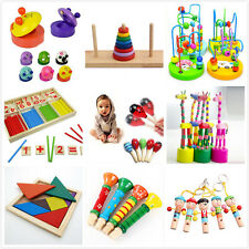 Wooden Toy Gift Baby Kids Intellectual Developmental Educational Early Learning.