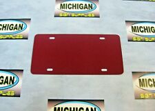 Maroon Plastic License Plate Blank .050-Create Your Own Designs!!