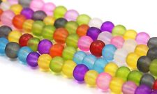 8mm Frosted Glass Beads Spacer Multi Color Round Beading Jewelry Making Crafts