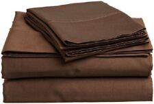 Extra Deep Pocket 1Qty Fitted Sheet Only 100% Cotton 1000 TC Chocolate Solid