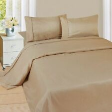 Extra Deep Pocket 1Qty Fitted Sheet Only 100% Cotton 1000 TC Taupe   Solid