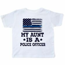 Inktastic Aunt Is A Police Officer Law Enforcement Toddler T-Shirt Niece Nephew