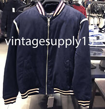 ZARA MAN QUILTED JACKET WITH PIPING NAVY BLUE S-XL REF. 4341/494