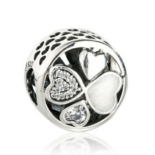 Heart of Love Charm Authentic 925 Sterling Silver Enamel Hearts Charms Beads