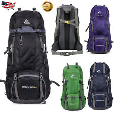 60L Waterproof Backpack Luggage Camping Rucksack Outdoor Hiking Climb Travel Bag