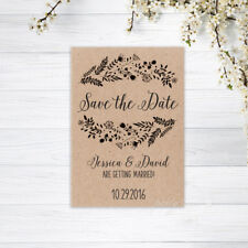 PERSONALISED SAVE THE DATE CARDS INVITATIONS MAGNETS WEDDING CARD RECYCLED KRAFT