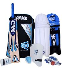 CW Economy Sports Cricket Kit Blue Complete Batting Accessories Without Helmet